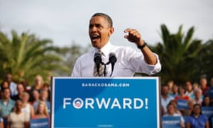 Barack Obama speaking in Tampa, Florida