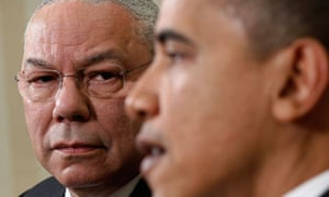 President Obama and Colin Powell