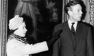 Royalty - Queen Elizabeth II and Sir Anthony Blunt - Courtauld Institute of Art