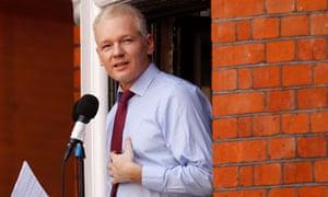 Julian Assange at the Ecuador embassy