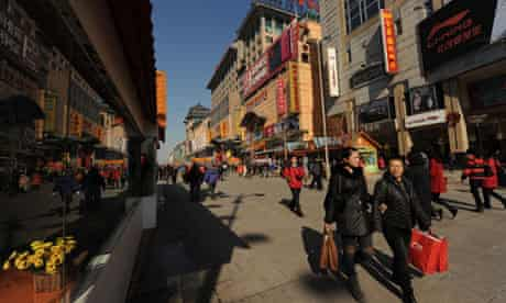 A busy street in Beijing