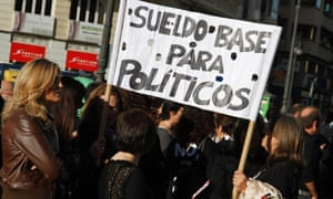 Civil servants protest against austerity measures in central Valencia, October 26, 2012.