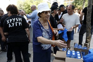 Golden Dawn: Golden Dawn food handout
