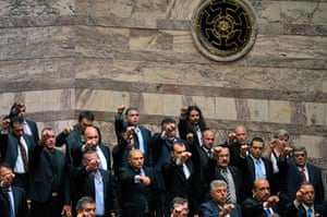 Golden Dawn: Golden Dawn party  members are sworn in to greek parliament