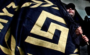 Golden Dawn: A member of the extreme right Golden Dawn party
