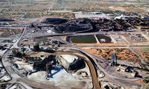 BHP Billiton's giant Olympic Dam uranium mine project