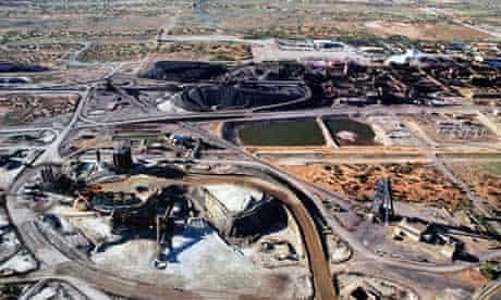 BHP Billiton's giant Olympic Dam uranium mine project