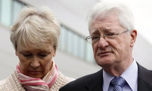 Christopher Tappin pictured with his wife, Elaine, in February when he was extradited to the US