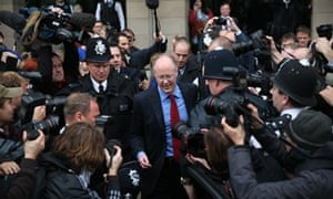 George Entwistle after giving evidence to a Commons select committee over the Jimmy Savile scandal