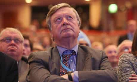 Ken Clarke at the Conservative party conference