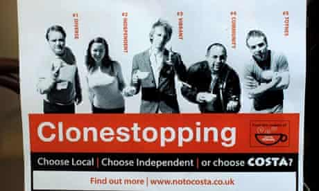 A Clonestopping poster from the No to Costa campaign by Totnes residents
