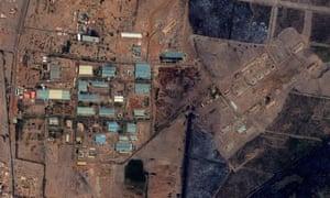 Yarmouk military complex in Khartoum, Sudan