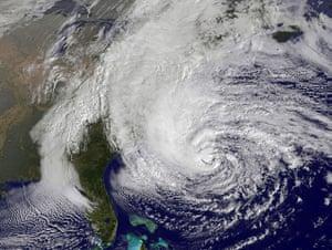 Hurricane Sandy : Satellite image of Hurricane Sandy