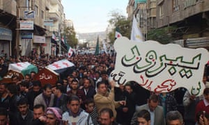 Syria Damascus funeral ceasefire