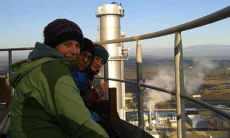 Protesters at West Burton power station