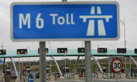 M6 motorway toll booths