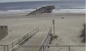 The beach in Ocean City, Maryland, before Sandy's arrival.