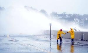 Hurricane Sandy in Winthrop, Massachusetts