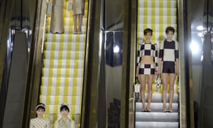 Making an entrance: Models present creations for Louis Vuitton during the Spring/Summer 2013 ready-to-wear collection show in Paris.