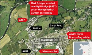 Machynlleth map