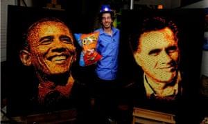 obama romney cheetos