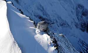 """The new """"Refuge du Gouter"""" at the Dome du Gouter on the way to the summit of Mont-Blanc. The ovoid architecture has been designed to fit to aesthetical and technical environmental constraints."""