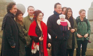 Michael Gove on a New Year's Day walk in 2011 with the Cameron family and friends