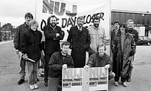 Michael Gove on an NUJ picket line in 1989