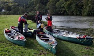April Jones search continues: canoeists prepare to search river banks close to where Mark Bridger was arrested.