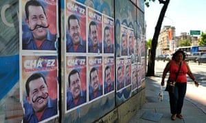 Chavez posters in Caracas