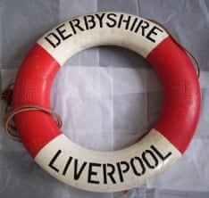 Derbyshire wreck lifebuoy Merseyside Maritime Museum