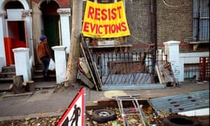 Protesting imminent eviction at Saint Agnes Place squat in Kennington South London