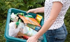 Green recycling box