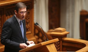 Portugal's Prime Minister Pedro Passos Coelho speaks during the opening of the debate on the State budget for 2013, at the Portuguese Parliament, in Lisbon, Portugal, 30 October 2012.
