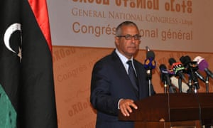 Newly elected Libya's interim prime minister Ali Zidan.