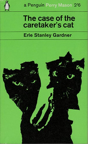 Penguin covers: The Case of the Caretaker's Cat, by Erle Stanley Gardner.