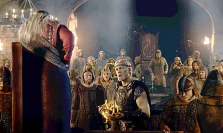 A still from the 2007 motion-capture film Beowulf