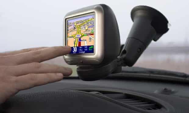 TomTom car satellite navigation system