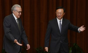 UN-Arab League peace envoy Lakhdar Brahimi meets Chinese foreign minister Yang Jiechi.  Brahimi is concluding his two-day visit to China, as he seeks a renewed international push to end the violence in Syria.