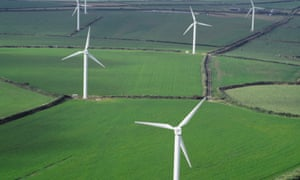 A wind farm in Cornwall. Photograph: Skyscan/Corbis
