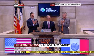 Opening of Wall Street on October 31 2012