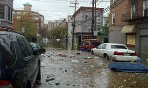 Flooding in Hoboken, New Jersey