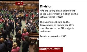 MPs voting on EU budget