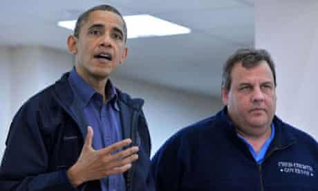 Barack Obama and Chris Christie
