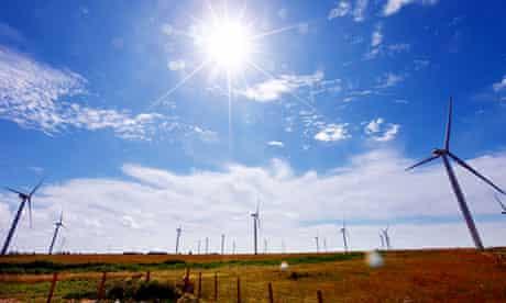 Wind turbines, south-east England