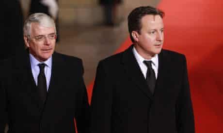 John Major and David Cameron