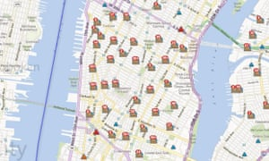 Con Edison's map of power outages in Manhattan, as of 4:30pm ET, Oct. 31, 2012.