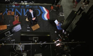 Senator Marco Rubio, Republican of Florida, waits to do a television interview before the first presidential debate at the University of Denver, Colorado.