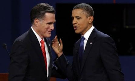 Romney and Obama after debate