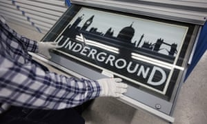 London Transport Museum Depot in Acton uncovered: a conserved London Underground station front sign from 1909 prior to the depot's open weekend. The museum depot, which houses over 400,000 objects, will open its doors to the general public this weekend.